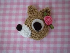 Hertje Crochet Deer, Crochet Appliques, Bambi, Crocheting, Embellishments, Projects To Try, Baby Shoes, Embroidery, Knitting