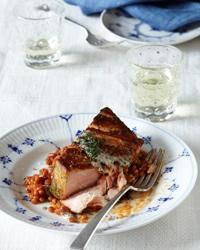 Salmon in Charmoula with Risotto-Style Israeli Couscous