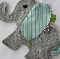 Taggie elephant-adorable!! #DIY #crafts