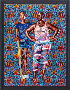 JAMAICA | Kehinde Wiley Studio - Naomi and Her Daughter - Oil on Canvas, 2013