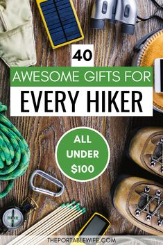 Looking for hiking gift ideas for the adventurers in your life? This list of 40 hiking gifts for men Hiking Gear Women, Best Hiking Gear, Hiking Wear, Camping And Hiking, Hiking Trips, Backpacking Tips, Baby Hiking, Top Christmas Gifts, Holiday Gifts