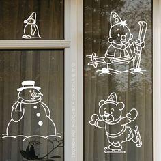Window Art, Christmas Crafts, December, Clip Art, Calligraphy, Inspiration, Home Decor, Windows, Xmas