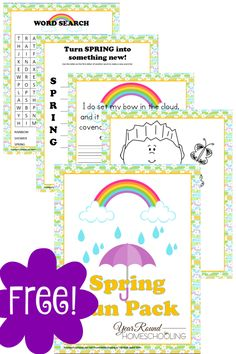 Free Spring Printable Pack - Year Round Homeschooling