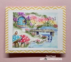Watercolor Art, Craft Photography, Dots Art, Art Impressions Stamps, Art, Whimsical, Photo And Video, Elves, Watercolor Design