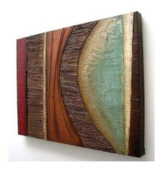 Abstract painting MODERN textured wall SCULPTURE by 360ArtStudio