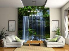 Tasmania Waterfall - Wall mural, Wallpaper, Photowall, Home decor, Fototapet, Valokuvatapetit