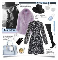 """That dress"" by yourstylemood ❤ liked on Polyvore featuring Fendi, Cushnie Et Ochs, BeckSöndergaard, Blumarine, Dolce&Gabbana, River Island, Maison Margiela, Essie, serenity and rosequartz"