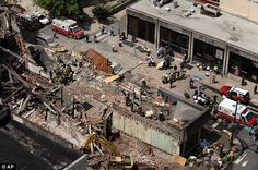 In Philadelphia, July, 2013, a construction worker impaired  by codeine and marijuana mistakenly hit the wall of a neighboring building, causing it to collapse. Six died and 13 were injured in the accident. Photo: AP