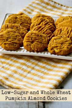 Low-Sugar and Whole Wheat Pumpkin Almond Cookies (with Coconut Oil)