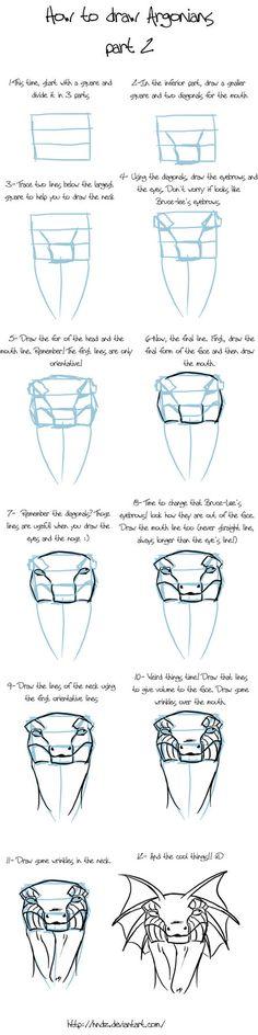 How to draw Argonians -part 2- by Hndz on deviantART
