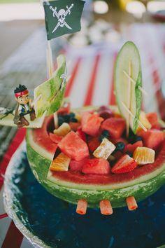 Watermelon Pirate Ship - Fran Ze Photography