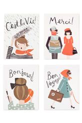 ASSORTED FRENCH CARD SET - RIFLE PAPER
