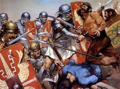 Roman legions in battle in the Dacian Wars ~ art by Angus McBride