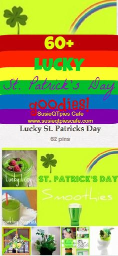 SusieQTpies Cafe: {Pinterest Party} 60 LUCKY St. Patrick's Day Projects- link up anything FUN today. Doesn't have to just be St. Patrick's Day ideas!