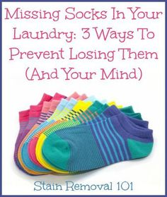 Here are three ways to prevent missing socks in your laundry, so you neither lose your socks or your mind trying to find a match when you need one! Doing Laundry, Laundry Hacks, Laundry Room, Household Chores, Household Organization, Household Tips, Organization Ideas, Lost Socks, Homemade Cleaning Products