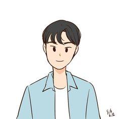 Cartoon Girl Drawing, Cartoon Drawings, Cute Drawings, Girl Cartoon, Cute Couple Wallpaper, Pop Art Wallpaper, Boy Illustration, Cute Doodles, Korean Art
