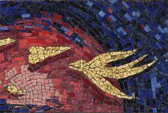 titolo''La ricerca interiore'' mosaico in smalti di Murano e ori di Murano 20x30 anno 2017n 116