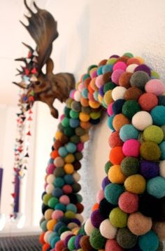 Get a Little Crafty with 25 Multi-Colored 2cm Sized Felt Balls at VeryJane.com