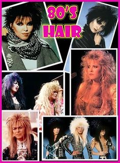 Some hairstyles from the 80s Punk Era. Hair colour was vibrant and wild! #mohawk #punkera #80s