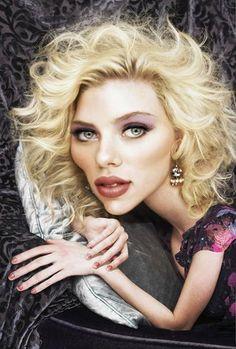 Caricatura de Scarlett Johansson. ~ Ʀεƥɪииεð вƴ╭•⊰✿ © Ʀσxʌиʌ Ƭʌиʌ ✿⊱•╮