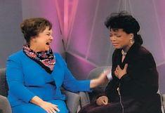 Oprah with her fourth grade teacher, Mrs. Duncan.