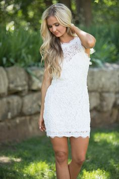 You Mean So Much To Me Lace Dress White - The Pink Lily
