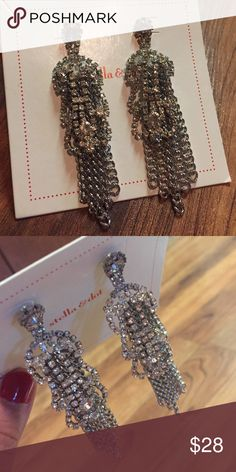 Chandelier Rhinestone Silver Earrings Excellent Condition - just haven't gotten around to wearing them.  Post style back & unfortunately, I don't have the box Stella & Dot Jewelry Earrings