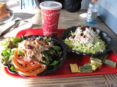 salads pacific warf w/ bread bowls on the side