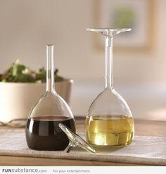 Upside down wine glasses