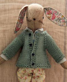 Little Raglan Sweater for Rabbits Knitting Pattern $3