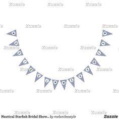 Nautical Starfish Bridal Shower Banner