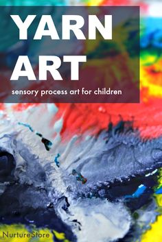 Gorgeous ideas for yarn art sensory process art for children