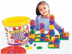 Gears! Gears! Gears! Super Set - 150-Piece Set by Learning Resources. $41.38. Giant storage tub. Gear up for hours of fun. 150-piece set. Endless creative combinations. Encourages creativity. From the Manufacturer                Gear up for hours of fun with this giant building set that gives early learners hundreds of construction possibilities. The 150-piece set features plastic gears, connectors and interlocking bases in a giant storage tub with an Activity Guide.  ...