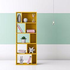 Hashtag Home Aadvik Bookcase & Reviews Wood Shelves, Floating Shelves, Living Room Playroom, Bedding Sets Uk, Bookshelf Styling, Flat Ideas, Framing Materials, Montage, House Colors