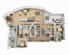3d House Plans, Model House Plan, Home Design Floor Plans, House Layout Plans, Home Building Design, House Blueprints, Dream House Plans, House Layouts, Building A House