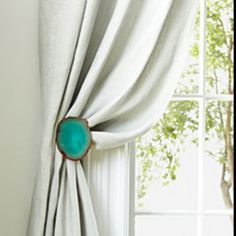 love these agate curtain hooks