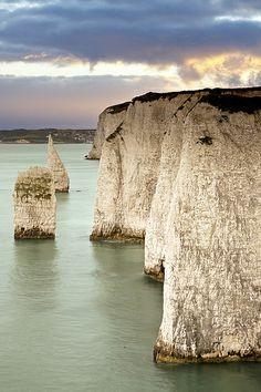 chalk cliffs, Dorset, United Kingdom