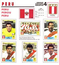World Cup Mexico 1970 - Peru