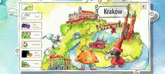 Multimedialne zwiedzanie Polski dla dzieci | Nauka domowa Polish Language, Krakow, Kids Education, Kindergarten, Comics, Books, Character, Multimedia, Homeschooling