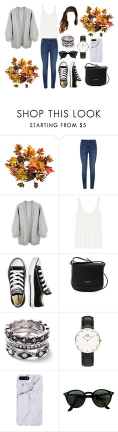 """""""pre- fall 2"""" by pauladtello ❤ liked on Polyvore featuring Improvements, Calvin Klein Jeans, The Row, Converse, Lancaster, WithChic, Daniel Wellington and Ray-Ban"""