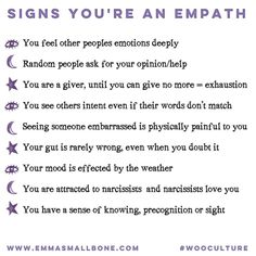 Have you ever felt the pain of a friend as they speak to you? . Do you adore a sunny day or a rainy day by the fire? . Do you resonate with the term Empath?  . #empathproblems #empath #spiritual #spirituality #feelings #feelingallthefeels #emmasmallbone
