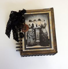 Victorian Mourning Journal Death Journal Goth by InsideTheBeehive