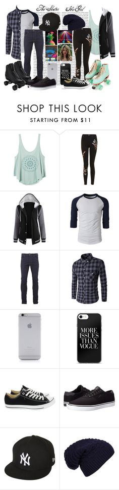 """""""024 Roller Skate Disco"""" by berry2206 on Polyvore featuring Oris, RVCA, Topshop, Moxi, Religion Clothing, Native Union, Riedell, Converse, Lakai und New Era"""
