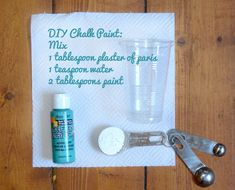 DIY Chalk paint with plaster of paris (can be made in ANY color)