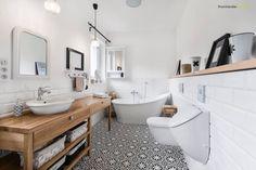 skandinavische Badezimmer von PracowniaPolka