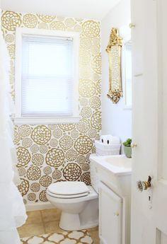 Gold flower wall