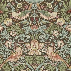 william morris wallpaper | William Morris & Co Archive 2 Wallpapers Strawberry Thief Wallpaper ...