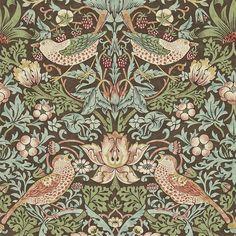william morris wallpaper | William Morris & Co Archive 2 Wallpapers Strawberry Thief Wallpaper ...