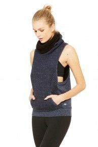 ALO Yoga - Frost Winter Vest - Rich-Navy-Heather-2