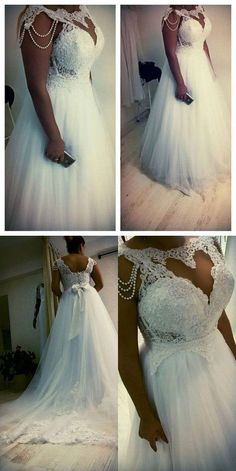 ba8d34589e3 Plus Size Wedding Dress Bridal Gowns with Beaded from dressydances